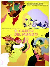 El Canto del Mundo vintage Movie POSTER.Blue Graphic Design.rt Decoration.3784