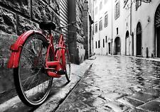 Fototapete Tapete Wandbild Vlies F411675_VE Photo Wallpaper Mural Rotes Fahrrad