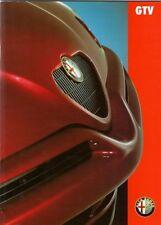 ALFA ROMEO GTV6 2.0 Twin Spark & LUSSO 1996-1998 mercato del Regno Unito BROCHURE DI VENDITA