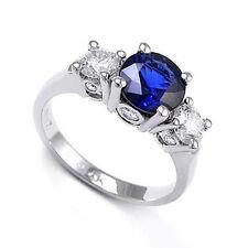 1.65ct Sapphire 0.76ct Diamond Three Stone Lucida Ring in 950 Platinum #R1217