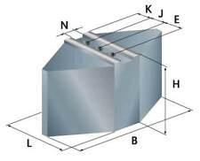 HWR Satz Segment-Aufsatzbacke weich 90° Typ HV für Röhm und Schunk