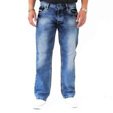 Viazoni Jeans Hugo-4 (Loose Fit-hervorgehobene Ziernähte)