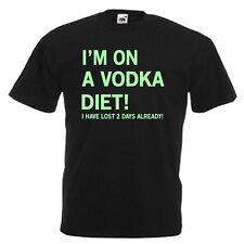 Vodka Diet Glow In The Dark Mens Adults T Shirt