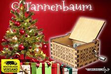 O TANNENBAUM Spieluhr Musicbox Weihnachten Christmas Xmas  Holzbox Lasergravur