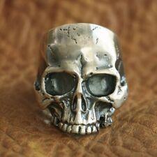 925 Sterling Silver Handmade Skull Ring Mens Biker Punk Ring TA98A US Size 7~15