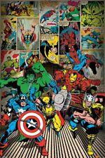Nuevo Marvel Comics Clásico Avengers Line Up Poster