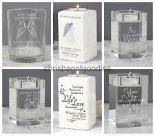 PERSONALISED Tealight Holder Memorial Bereavement REMEMBRANCE Keepsake for Gifts
