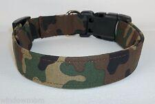 ARMY KICKIN URBAN CAMO Terri's Dog Collar hand made adjustable charming fabric