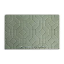 Mint Memory Foam Bathroom Mat/rug: Day Spa Tiles Design Soft Absorbent Non-skid