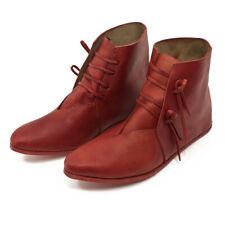 Mittelalter Schuhe Herren u. Damen Stiefel Rot Mittelalter geschnürt Reenactment