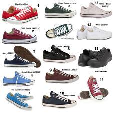 Señoras Converse Para hombre All Stars Ox lo chicos chicas Chuck Taylor Zapatillas Tallas 3-11