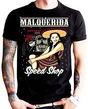 La Marca Del Diablo [Malquerida Speed Shop] T-Shirt Rockabilly HARLEY ROCKER la