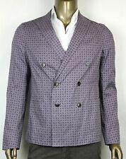 $2260 New Gucci Mens Paisley Flower Print Jacket Blazer Purple 333510 5463
