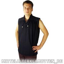 MITTELALTERHEMD ohne Arm kurzarm Ärmel ärmellos Mittelalter Hemd S-XXXL 3 Farben