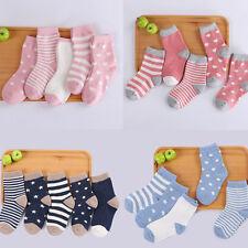 5Pairs Newborn Baby Boy Girl Cartoon Cotton Socks Infant Toddler Kids Soft SockH