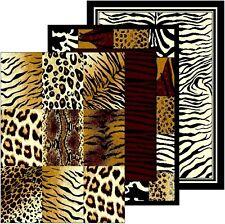 Animal Print Rug Mat Runner Zebra Safari Stripe Faux Animal Skin Wildlife