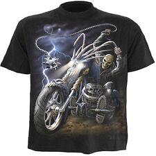 SPIRAL DIRECT RIDE TO HELL T-Shirt,Reaper/Biker/Skull/Motor Bike/Darkwear/Top
