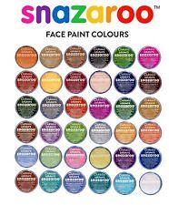 18 ML Snazaroo Viso & Corpo Colori Make Up PALCO Fancy Dress 57 COLORI ~ Fast DISP