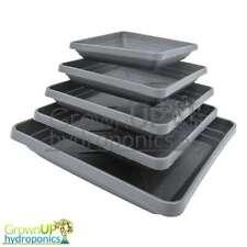 Heavy Duty Square Black Plant Pot Saucers - Various Sizes