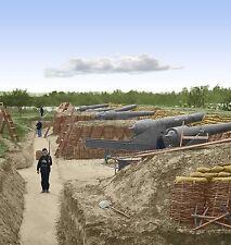 Battery Parrott Riffle Cannon Gun Farnhold VA Color Tinted photo Civil War 23379