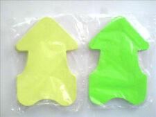 100 Preisschilder  Pfeile  selbstklebendes Haftpapier 8 x 11cm  gelb - grün