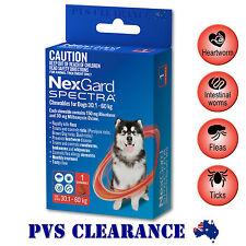 Nexgard Spectra Red Single for Extra Large Dogs 30.1 - 60 kg 1-Pack - Nexguard