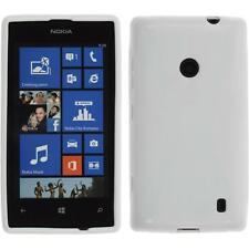 Nokia Lumia 525 TPU Case Cover X-Style + protective foils white