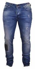Scotch & Soda sahnt Blau Denim Jeans Destroyed Patch Skinny Slim selten Design