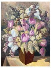 Tulips by S. Sudeikin vase Tile Mural Kitchen Bathroom Backsplash Marble Ceramic