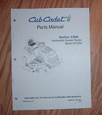 CUB CADET GT1554 ILLUSTRATED PARTS LIST MANUAL