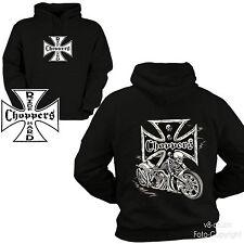* Hoodie Biker Custom Choppers Motorrad Skull Kapuzensweatshirt  *4005
