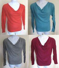 Mossimo Ladies POINTELLE Soft Draped Collar Knit SHIRT Sz XL Soft L/S Washable