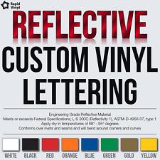 Custom Reflective Vinyl Lettering Decal Sticker Car Van Truck Trailer Banner +