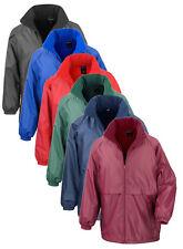 Lightweight Warm Waterproof Windproof Fleece Lined Jacket Coat Concealed Hood