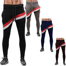 Men Cotton Blend Pique  3-Colour Skinny Stripe Casual Pants Slim Fit  Trousers