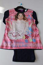 Neu Pyjama Set Schlafanzug Mädchen Disney Violetta Pink Gr. 116 128 140 152 #33b
