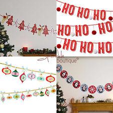 Banners de banderines de Navidad-Guirnalda De Lujo Festivo Navidad Decoración Para Colgar/