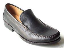 NIB mens FRYE 'Douglas' Venetian Hammered black leather loafers shoes - BEST