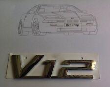 Original BMW Emblème v12 plaque signalétique e32 e31 e38 750i 850i 850ci 850csi