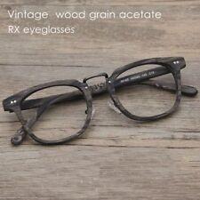 Vintage wood grain acetate eyeglasses mens Myopia Spectacles RX Glasses Frame