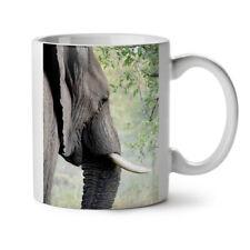 Magnific Elephant Ivory Tusk NEW White Tea Coffee Mug 11 oz | Wellcoda