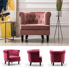 Sessel Samt Stuhl Sofa 1 Einzel Sitz Knopf Größe Wohnzimmer lounge möbel
