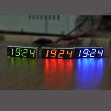 Digital LED Electronic Clock Time + Thermometer + Voltmeter Alarm for 12V car