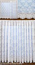 1474 traditionnel victorien effet dentelle épais blanc rideau filet rose