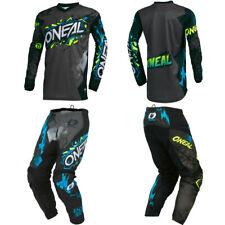 ONeal Element Villain Gray motocross MX dirt bike gear - Jersey Pants Combo