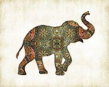 Elephant Bohemian Watercolor Art Print #1 by Dan Morris, option to mount print