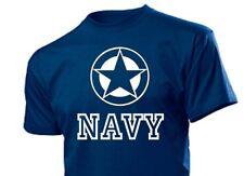 Maglietta Allied Star Blu Marino us army Airforce USMC GUARNIZIONI VIETNAM tg.
