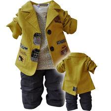bebé Boy 3 PZAS Conjunto Informal Traje Talla 1-6 Años Chaqueta+