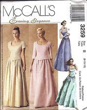 3259 UNCUT Vintage McCalls Sewing Pattern Misses Evening Elegance Tops Skirts FF