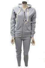 Completo tuta da ginnastica donna grigio Deha palestra sport paillettes casual